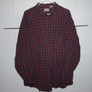 L.L. Bean mens button down shirt size XL J91